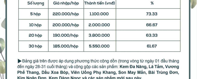 Giá sỉ Kem Đa Năng Bà Vân là bao nhiêu?